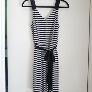 Black & White Striped Sundress by Guess